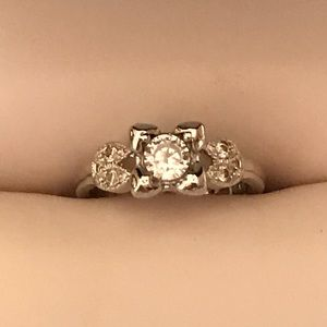 Jewelry - Sterling silver CZ engagement ring size 5.75